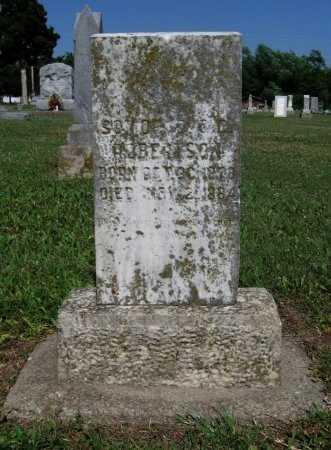 ROBERTSON, WILLIAM JESSE - Cowley County, Kansas | WILLIAM JESSE ROBERTSON - Kansas Gravestone Photos