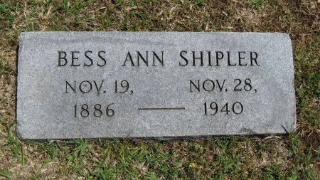 SHIPLER, BESS ANN - Cowley County, Kansas   BESS ANN SHIPLER - Kansas Gravestone Photos