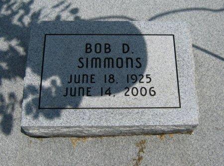 SIMMONS, BOB D - Cowley County, Kansas | BOB D SIMMONS - Kansas Gravestone Photos