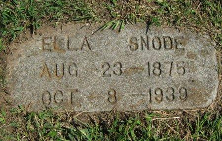 SNODE, ELLA - Cowley County, Kansas   ELLA SNODE - Kansas Gravestone Photos