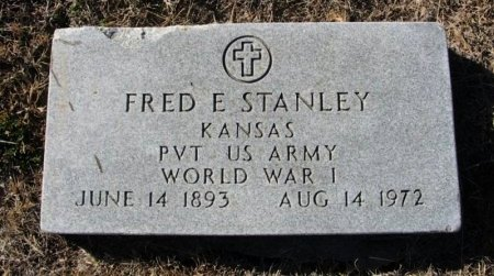 STANLEY , FRED E (VETERAN WWI) - Cowley County, Kansas | FRED E (VETERAN WWI) STANLEY  - Kansas Gravestone Photos