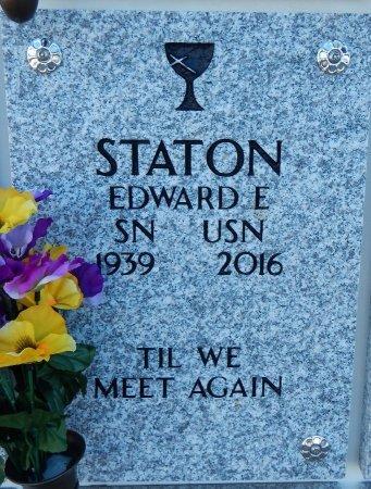 "STATON, EDWARD E ""ED""  (VETERAN) - Cowley County, Kansas | EDWARD E ""ED""  (VETERAN) STATON - Kansas Gravestone Photos"