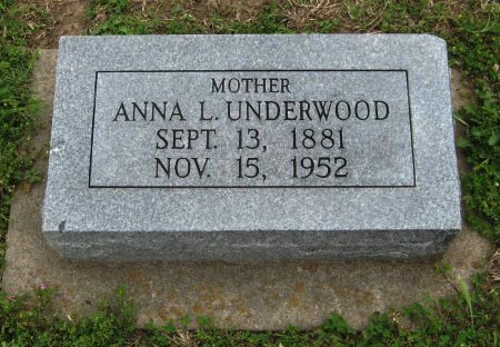 UNDERWOOD, ANNA LEVINA - Cowley County, Kansas | ANNA LEVINA UNDERWOOD - Kansas Gravestone Photos