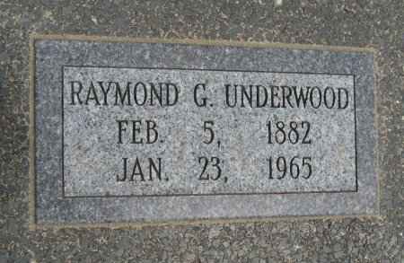 UNDERWOOD, RAYMOND GEORGE - Cowley County, Kansas | RAYMOND GEORGE UNDERWOOD - Kansas Gravestone Photos