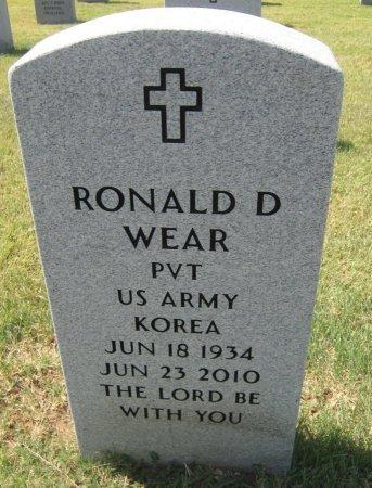 WEAR, RONALD D (VETERAN KOR) - Cowley County, Kansas | RONALD D (VETERAN KOR) WEAR - Kansas Gravestone Photos
