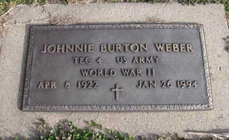 "WEBER, JOHN BURTON ""JOHNNIE""  (VETERAN WWII) - Cowley County, Kansas | JOHN BURTON ""JOHNNIE""  (VETERAN WWII) WEBER - Kansas Gravestone Photos"