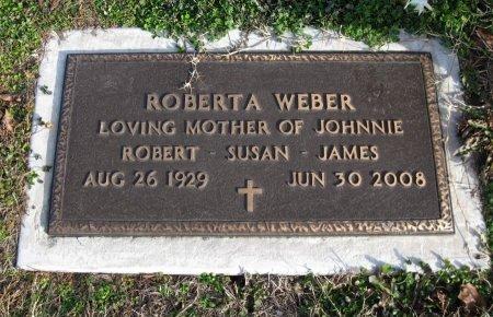 WEBER, ROBERTA - Cowley County, Kansas | ROBERTA WEBER - Kansas Gravestone Photos