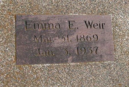 WEIR, EMMA ELIZABETH - Cowley County, Kansas | EMMA ELIZABETH WEIR - Kansas Gravestone Photos