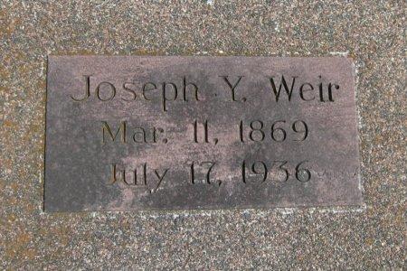 WEIR, JOSEPH Y - Cowley County, Kansas | JOSEPH Y WEIR - Kansas Gravestone Photos