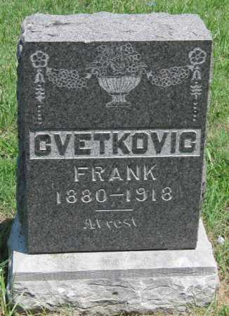 CVETKOVIC, FRANK - Crawford County, Kansas | FRANK CVETKOVIC - Kansas Gravestone Photos