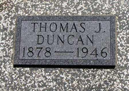 DUNCAN, THOMAS J - Crawford County, Kansas | THOMAS J DUNCAN - Kansas Gravestone Photos