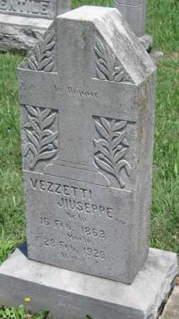 VEZZETTI, JIUSEPPE - Crawford County, Kansas | JIUSEPPE VEZZETTI - Kansas Gravestone Photos