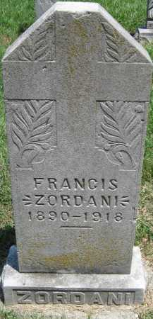 ZORDANI, FRANCIS - Crawford County, Kansas | FRANCIS ZORDANI - Kansas Gravestone Photos