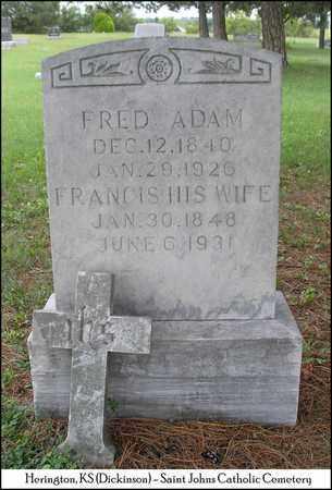 ADAM, FRED - Dickinson County, Kansas | FRED ADAM - Kansas Gravestone Photos