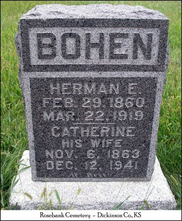 WINGERD BOHEN, CATHERINE - Dickinson County, Kansas | CATHERINE WINGERD BOHEN - Kansas Gravestone Photos