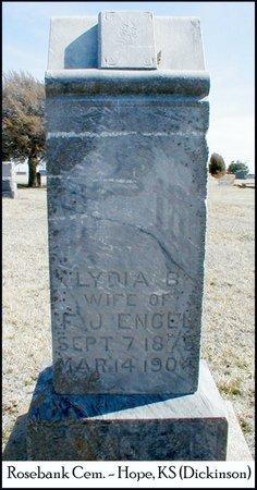 ENGEL, LYDIA B - Dickinson County, Kansas   LYDIA B ENGEL - Kansas Gravestone Photos
