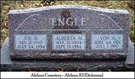 ENGLE, ALBERTA MAY - Dickinson County, Kansas | ALBERTA MAY ENGLE - Kansas Gravestone Photos