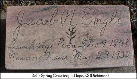 ENGLE, JACOB N - Dickinson County, Kansas | JACOB N ENGLE - Kansas Gravestone Photos