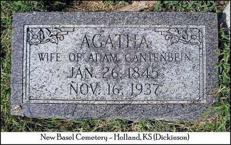 GANTENBEIN, AGATHA - Dickinson County, Kansas | AGATHA GANTENBEIN - Kansas Gravestone Photos