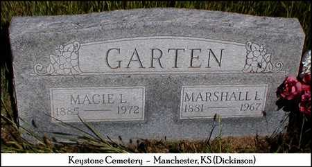 GARTEN, MARSHALL L - Dickinson County, Kansas | MARSHALL L GARTEN - Kansas Gravestone Photos