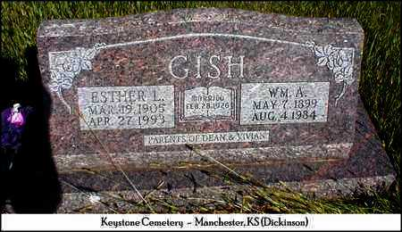SMITH GISH, ESTHER - Dickinson County, Kansas | ESTHER SMITH GISH - Kansas Gravestone Photos