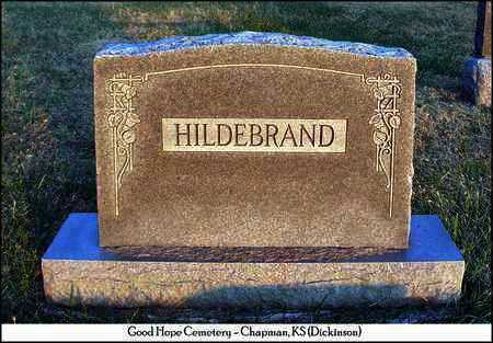 HILDEBRAND PLOT MARKER,  - Dickinson County, Kansas |  HILDEBRAND PLOT MARKER - Kansas Gravestone Photos