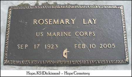 LAY, ROSEMARY  (VETERAN WWII) - Dickinson County, Kansas | ROSEMARY  (VETERAN WWII) LAY - Kansas Gravestone Photos