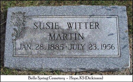 WITTER MARTIN, SUSIE A - Dickinson County, Kansas   SUSIE A WITTER MARTIN - Kansas Gravestone Photos