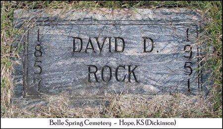 ROCK, DAVID D - Dickinson County, Kansas   DAVID D ROCK - Kansas Gravestone Photos