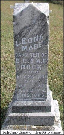 ROCK, LEONA MABEL - Dickinson County, Kansas | LEONA MABEL ROCK - Kansas Gravestone Photos