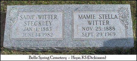STECKLEY, SADIE - Dickinson County, Kansas | SADIE STECKLEY - Kansas Gravestone Photos