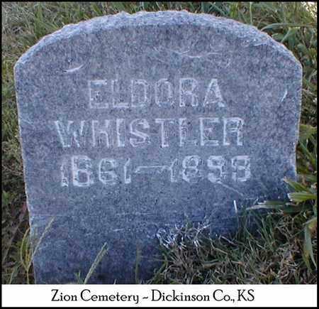 WHISTLER, ELDORA - Dickinson County, Kansas   ELDORA WHISTLER - Kansas Gravestone Photos