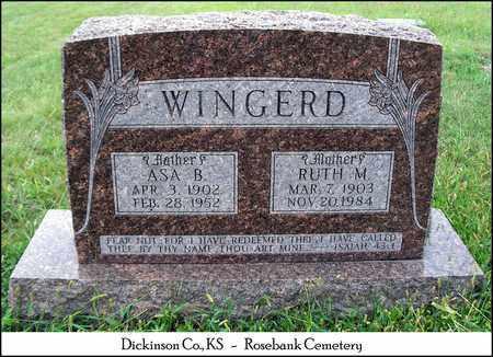 WINGERD, RUTH MELINDA - Dickinson County, Kansas | RUTH MELINDA WINGERD - Kansas Gravestone Photos