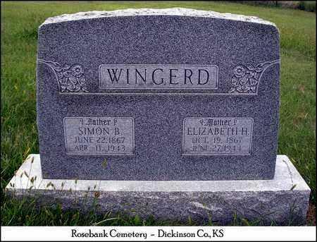 HOSTETTER WINGERD, ELIZABETH BRECHBILL - Dickinson County, Kansas | ELIZABETH BRECHBILL HOSTETTER WINGERD - Kansas Gravestone Photos