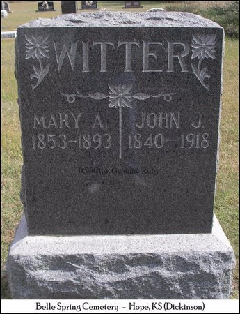 EISENHOWER WITTER, MARY ANN - Dickinson County, Kansas | MARY ANN EISENHOWER WITTER - Kansas Gravestone Photos