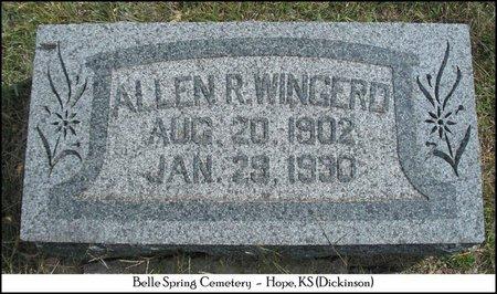 WINGERD, ALLEN RHODES - Dickinson County, Kansas   ALLEN RHODES WINGERD - Kansas Gravestone Photos