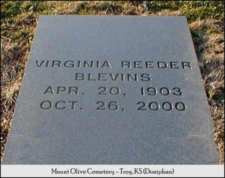 REEDER BLEVINS, VIRGINIA - Doniphan County, Kansas | VIRGINIA REEDER BLEVINS - Kansas Gravestone Photos