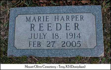 HARPER REEDER, MARIE - Doniphan County, Kansas | MARIE HARPER REEDER - Kansas Gravestone Photos