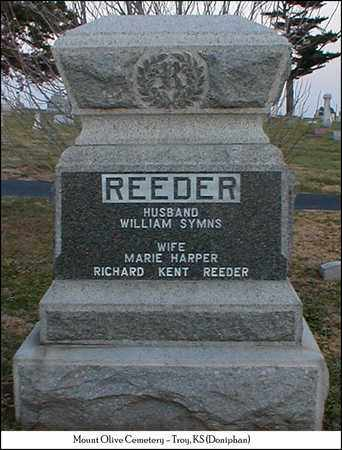 REEDER, WILLIAM SYMNS - Doniphan County, Kansas | WILLIAM SYMNS REEDER - Kansas Gravestone Photos
