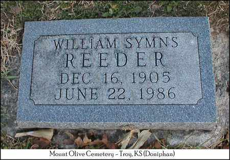 REEDER, WILLIAM SYMNS - Doniphan County, Kansas   WILLIAM SYMNS REEDER - Kansas Gravestone Photos