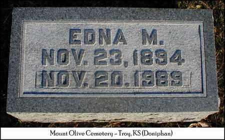 SANDY, EDNA M - Doniphan County, Kansas | EDNA M SANDY - Kansas Gravestone Photos