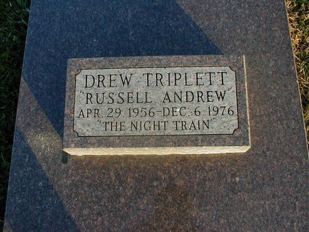 """TRIPLETT, RUSSELL ANDREW """"DREW"""" - Doniphan County, Kansas   RUSSELL ANDREW """"DREW"""" TRIPLETT - Kansas Gravestone Photos"""