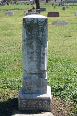 BAKER, CYRUS (VETERAN UNION) - Douglas County, Kansas   CYRUS (VETERAN UNION) BAKER - Kansas Gravestone Photos