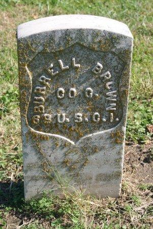 BROWN, BURRELL  (VETERAN UNION) - Douglas County, Kansas | BURRELL  (VETERAN UNION) BROWN - Kansas Gravestone Photos