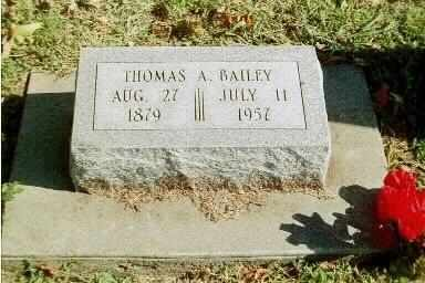 BAILEY, THOMAS ARTHUR - Elk County, Kansas | THOMAS ARTHUR BAILEY - Kansas Gravestone Photos