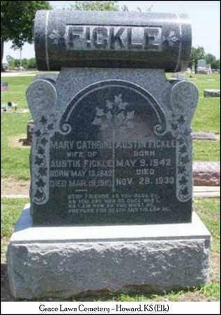SMITH FICKLE, MARY CATHERINE - Elk County, Kansas | MARY CATHERINE SMITH FICKLE - Kansas Gravestone Photos