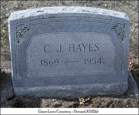 HAYES, CLARENCE J - Elk County, Kansas   CLARENCE J HAYES - Kansas Gravestone Photos