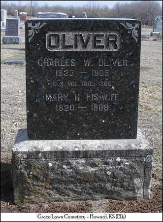 OLIVER, CHARLES WILLIAM  (VETERAN UNION) - Elk County, Kansas | CHARLES WILLIAM  (VETERAN UNION) OLIVER - Kansas Gravestone Photos