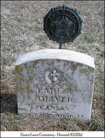 OLIVER, EARL J  (VETERAN) - Elk County, Kansas | EARL J  (VETERAN) OLIVER - Kansas Gravestone Photos