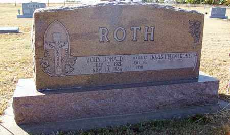 ROTH, JOHN DONALD - Ellis County, Kansas | JOHN DONALD ROTH - Kansas Gravestone Photos